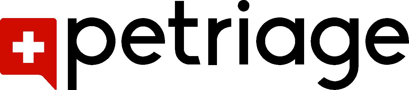 petriage logo black text